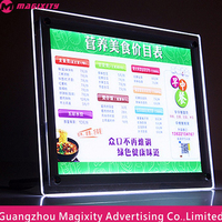 transperent acrylic frame led lighting advertising ad crystal light box
