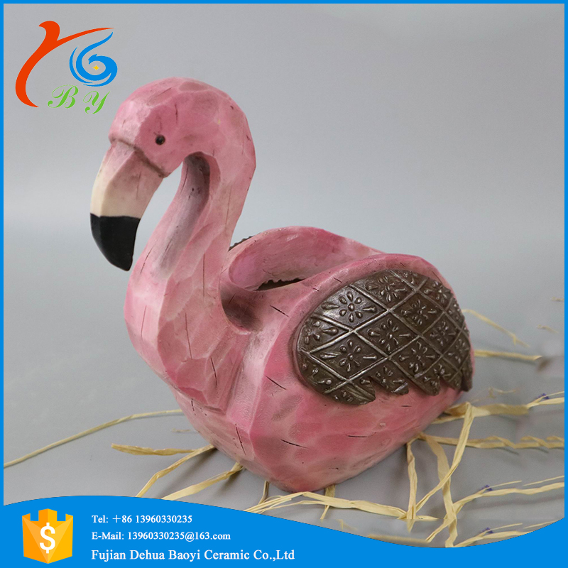 unique resin swan shaped decoration planter garden flower pot