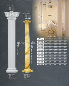 Interior and Exterior Decorative Polyurethane Cornice Moulding Columns New Design PU Roman pillar