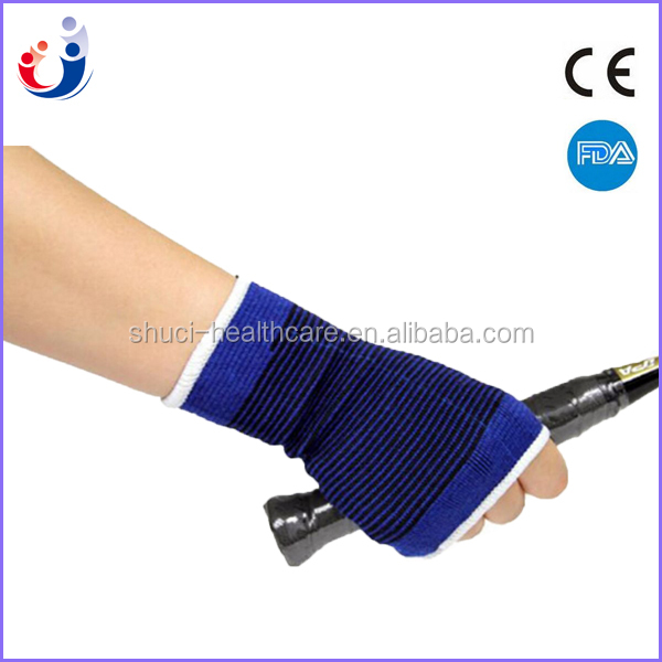 Elastic Palm Wrist Compression Sleeve Hand Support Guards for Pain Carpal Tunnel, 1 Pair, Blue