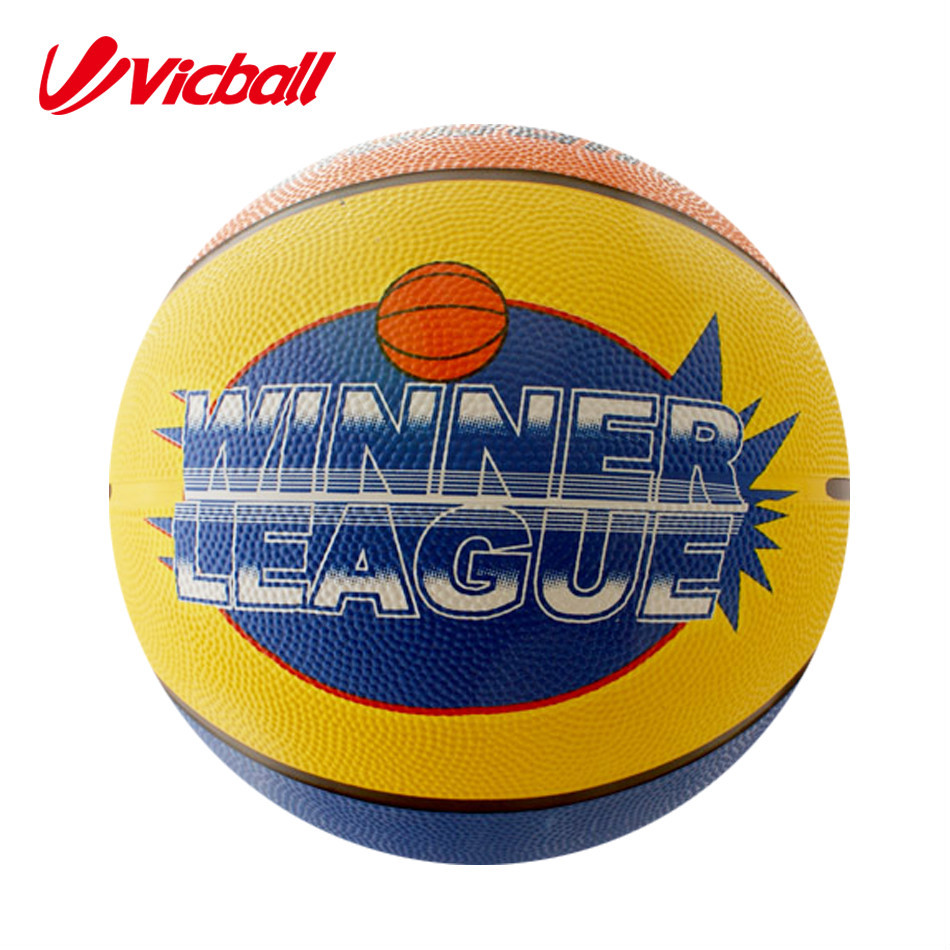 rubber basketball in bulk design