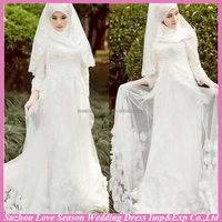 WD5073 New Designer Factory Price High Quality 2014 long sleeve bridal wedding gown pictures muslim bridal wedding dress