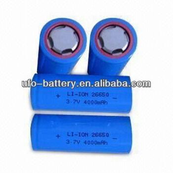 26650 3.7V 4000mAh Cylindrical Li-ion Battery Cells
