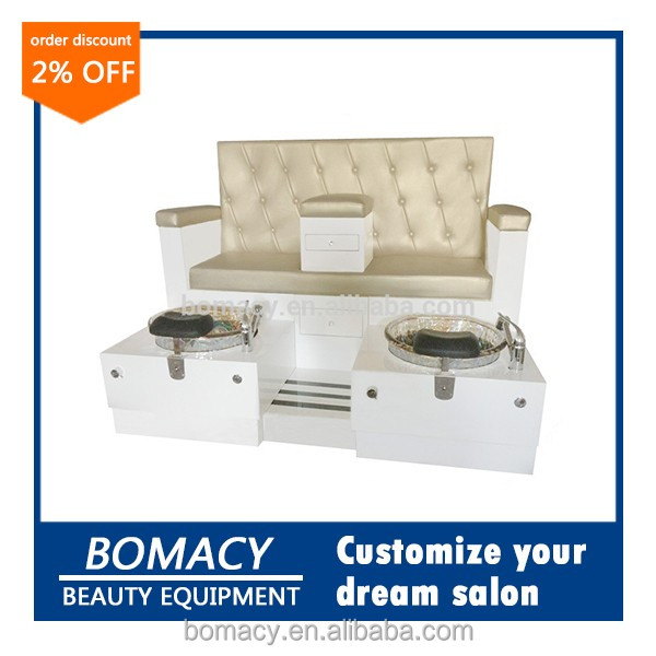 Bomacy-Modern style low price modern double pedicure station/manicure station/pedicure chair for beauty salon furniture