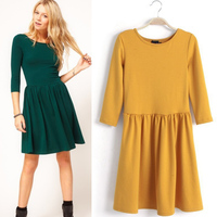 Autumn ol slim knitted sweater dress long-sleeve basic winter one-piece dress plus size SV000031