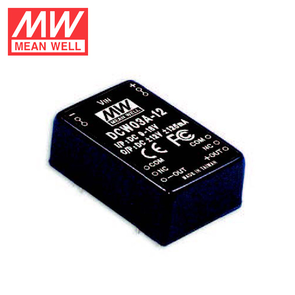3W 48V to 12V Converter DCW03C-05 Meanwell Buck DC DC Converter 36~72V Input