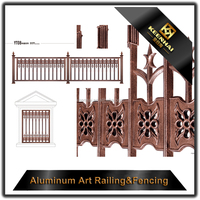 2018 Hot Sale Used Horizontal Aluminum Fencing Solid for Garden Fence