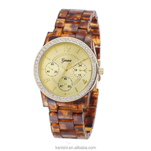 Christmas gift Amber Diamond quartz latest wrist watch women geneva watch