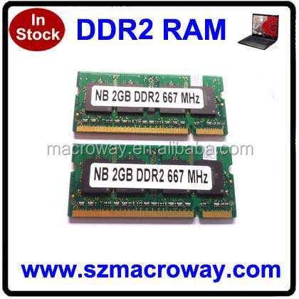 Low density FCC CE RoHS 128mb*8 ddr2 ram memory 2 gb for laptop