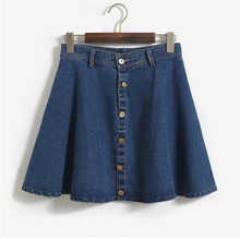 2015 fashion denim ladies short jean skirt designs