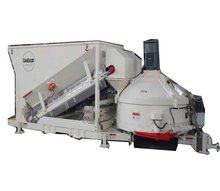taian SDDOM MC1500 small mobile ready mix concrete batching plant machine for sale