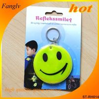 Reflective soft PVC tape reflective key chain keychain round plastic safety reflectors