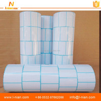 heat transfer thermal price self adhesive blank label printing machine roll sticker paper