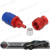 auto parts red and blue aluminum straight 3 AN brake hose end an3 fittings