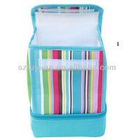 velcro closure two layer kids cooler bag