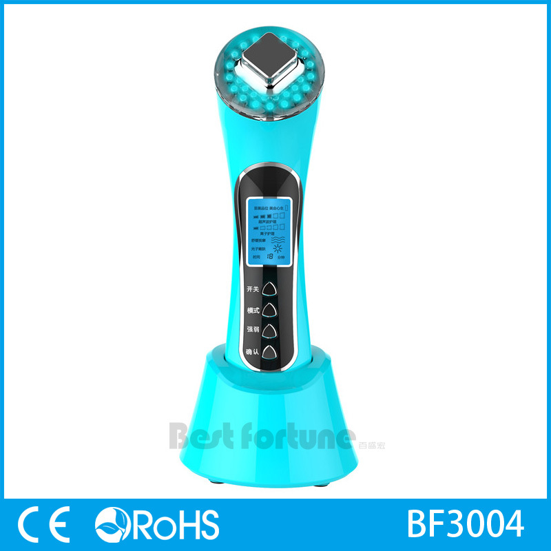 2016 Best Portable Ultrasonic Photon Facial Massager