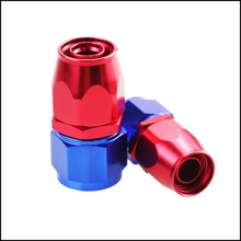 Oil Fuel Line Hose End Fitting Adapter degree 0+90 +45+180 Kit Blue+Red