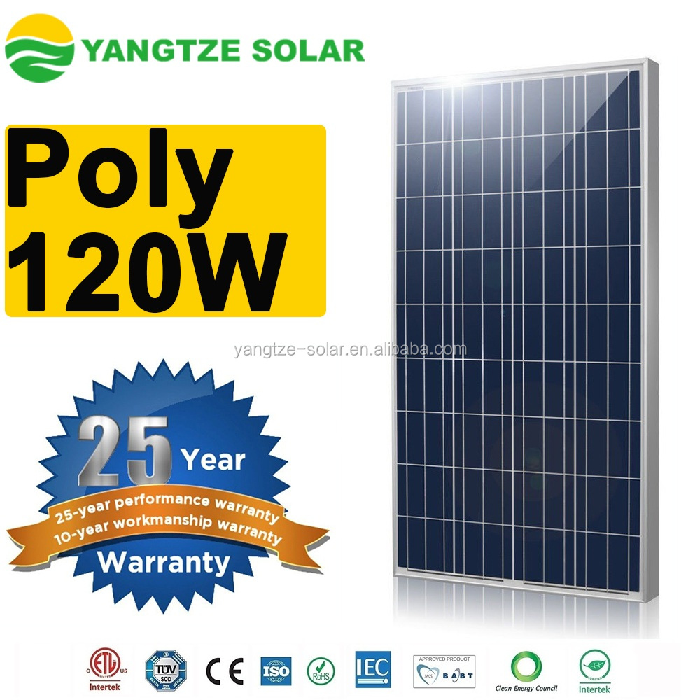 Yangtze top quality 120v solar panel