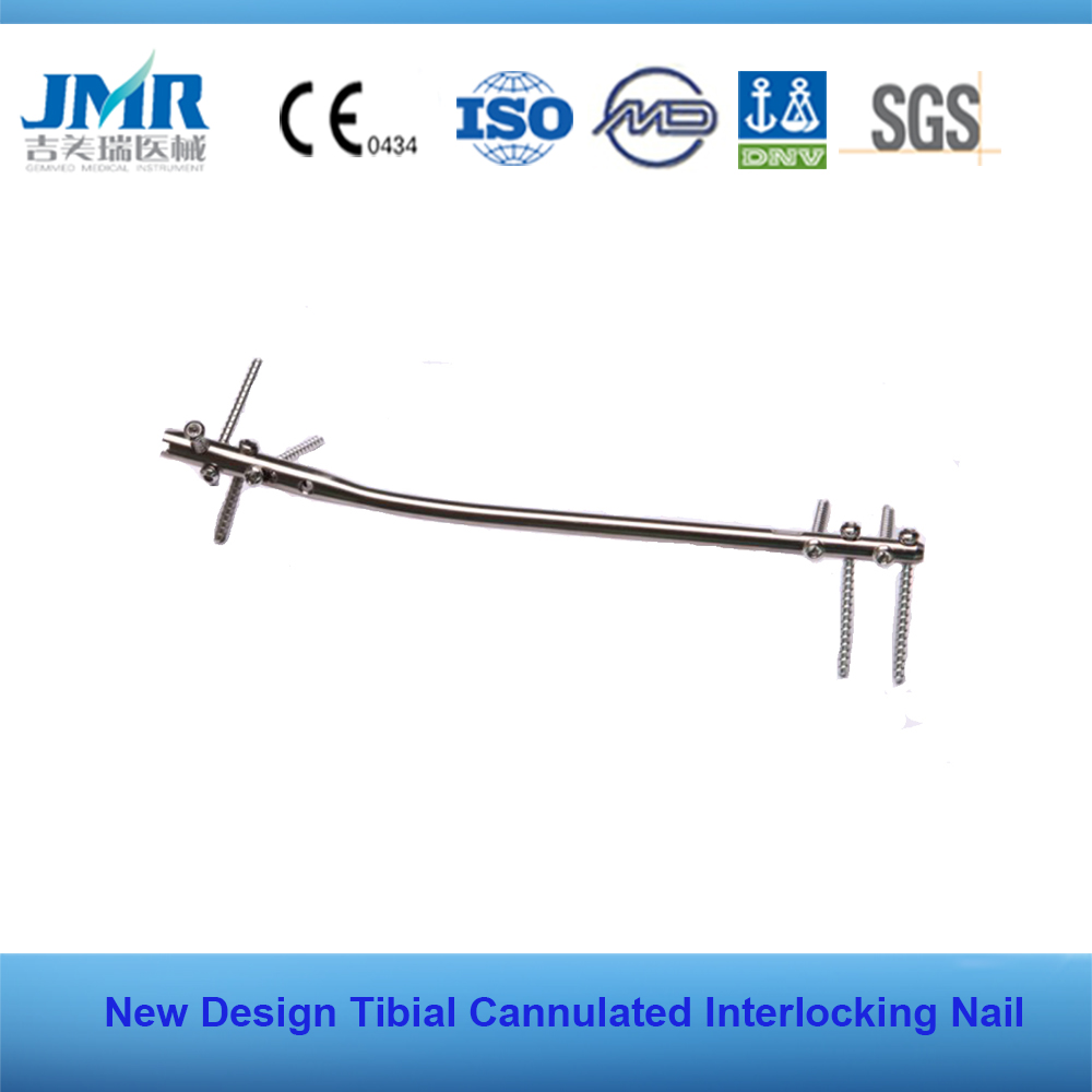 CE Marked Bone Healing Plate Expert design tibial cannulated interlocking nails