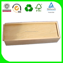 Eco-Friendly Natural Wood Single Bottle boxes