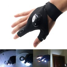 Outdoor Waterproof Multipurpose 2 LED Flashlight Torch Magic Strap Glove for Repairing Working in Darkness Places Fishing