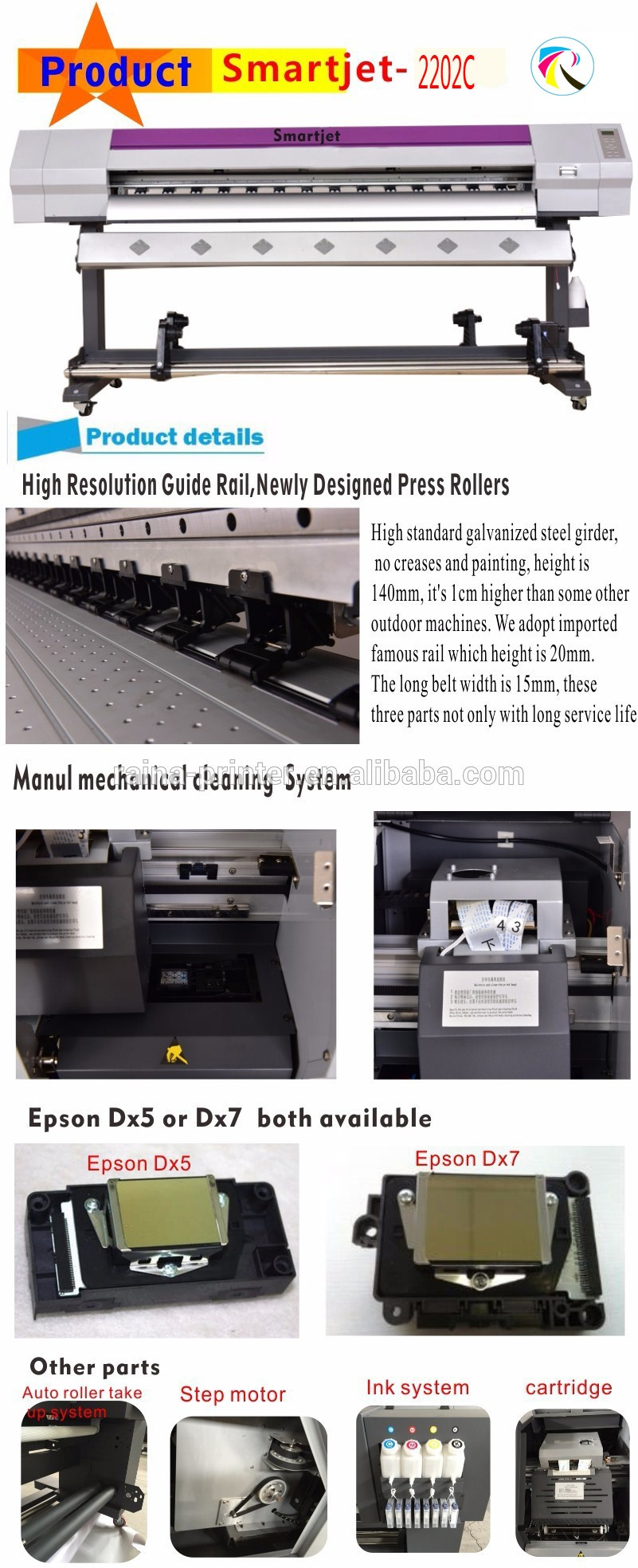 2.2m Printer Cutter vinyl cutter china roland indoor/outdoor plotter cutter