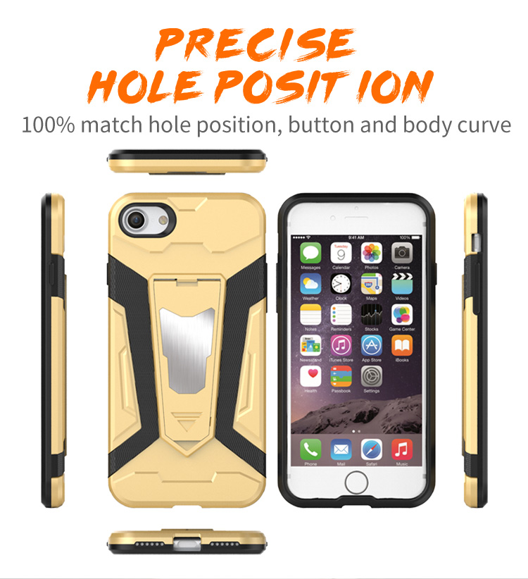 2017 Mobile phone accessories cover tpu pc case for iphone 7, for iphone 7 case hybrid, for iphone 7 armor case