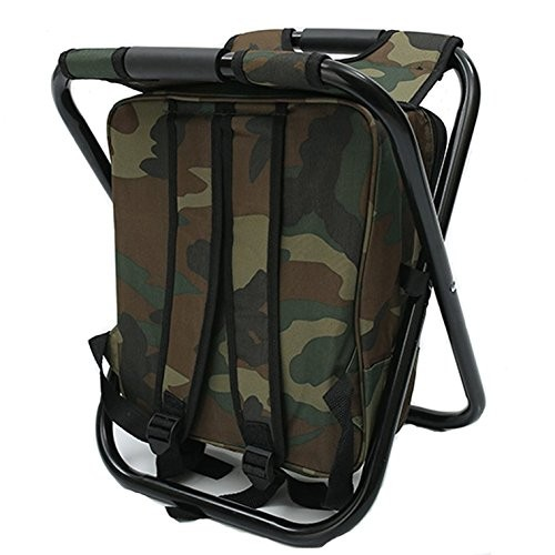 cheap custom Folding Chair With Cooler Bag Backpack Fishing Cooler Bag