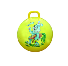 Factory sale Inflatable priting Space hopper ball with handle for kids/bouncing ball