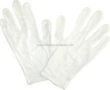 Hot sale white 100% cotton cheap etiquette gloves