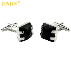 CPC20444 Business Gift Men's Fashion Anniversary Square China Black Onyx Cufflinks