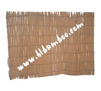 Natural willow fence for garden or home decoration