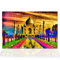 1 Pieces Taj Mahal India Oil Painting Prints HD Digital Printing Famous Landscape Wall Poster for Living Room Home Wall Decor
