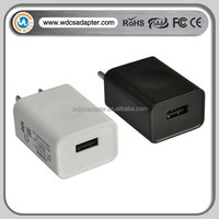 USB power adapter wall mount USB charger 5V 1A with EU/UK/JP/US plug