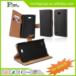 anti radiation plastic phone case customized popular genuine leather case for LG L80