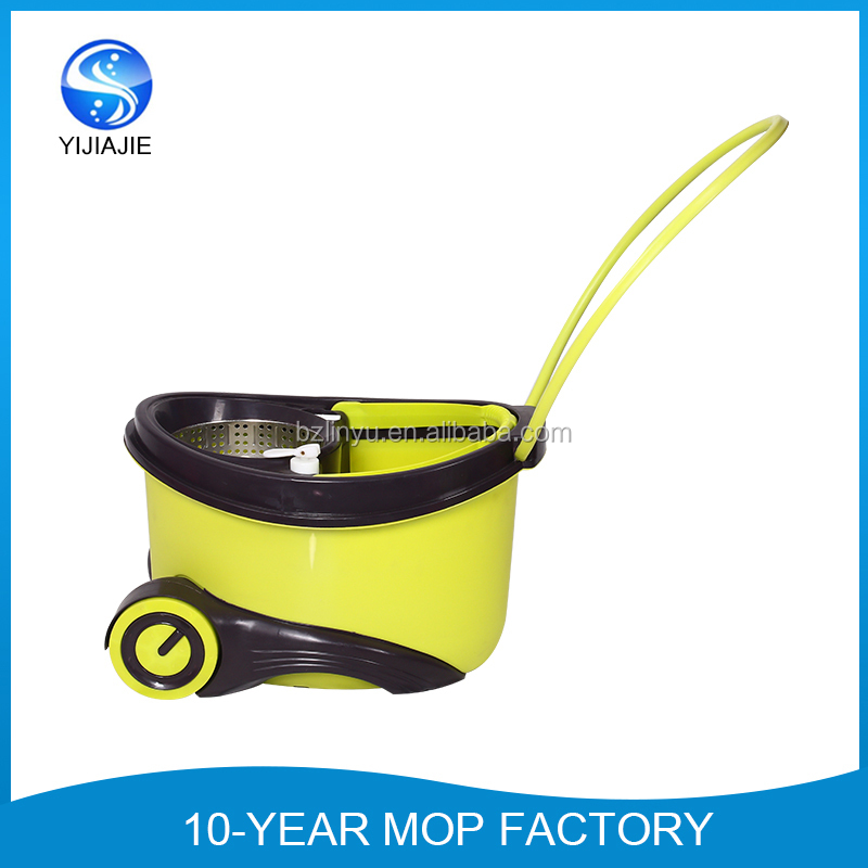 2016 best selling 360 super hand pressure magic mop with wheels
