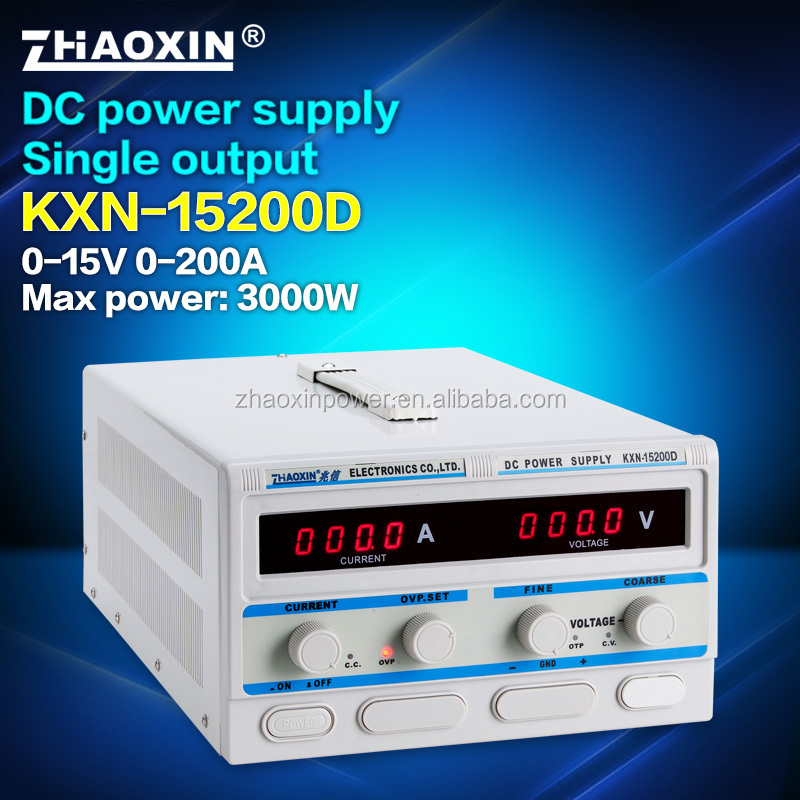 KXN-15200D High power adjustable switching dc power supply factory