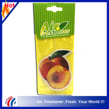 Long lasting fragrant juicy peach shape fruit secnts air freshener brands and deodorizing free car air fresheners