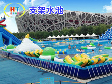 New Design Amusement park inflatable floating obstacle Inflatable water Obstacle Course for sale