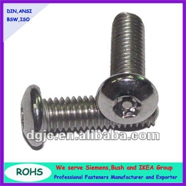 China fastener manufacturer supply Stainless steel torx socket head cap screw
