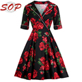 Women clothes summer v neck fancy printing party dresses for ladies