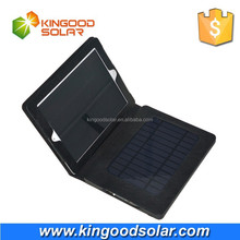 With PVC case and holder portable 8000mah Solar power bank charger for ipad 4
