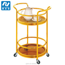 metal liquor trolley bar cart wine trolley tea trolley sevring