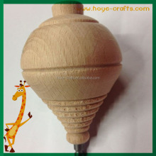 fsc tested italy wooden spinning top with hand pulling string