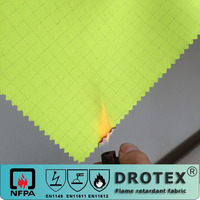 80 cotton 20 polyester fire retardant anti-static anti-acid fluorescent yellow fabric for sale