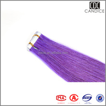 Highlight Purple Hair Extensions 100% Human Hair Weft