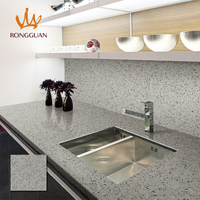 cheap price pure gray color vanity tops