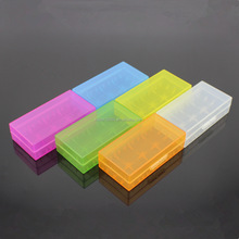 Wholesale Free Design Customer LOGO Battery Case 18650 2 Slots 4 Slots Plastic Battery Case