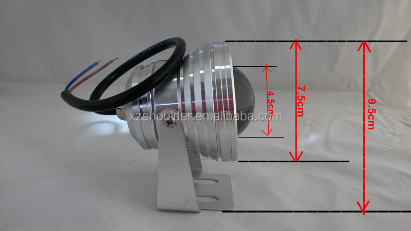 LED Underwater Spot Light 10W 12V silver waterproof IP68 Warm White COLD white rgb Garden Pool Pond Lamp