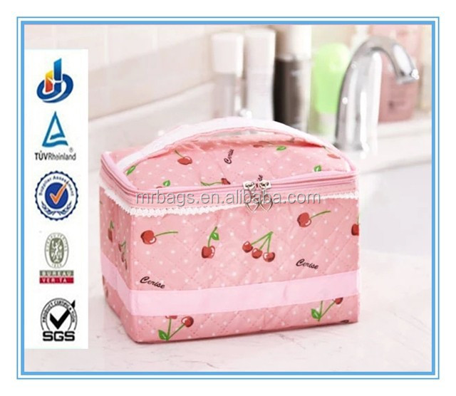 Cherry waterproof cosmetic bag for receive and wash gargle bag